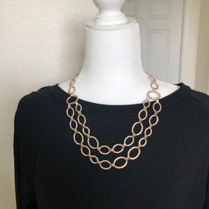 Stella & Dot Silver Tone Link Necklace